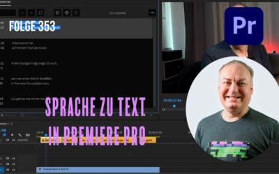 Sprache zu Text in Premiere Pro # Folge 353